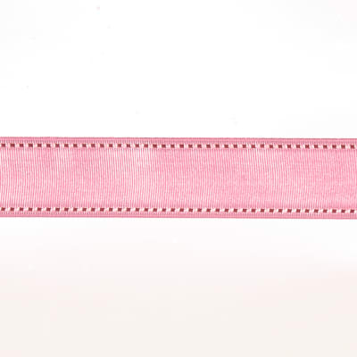 "May Arts 1 1/2"" Grosgrain Stitched Edge Ribbon Spool Pink/Rose"