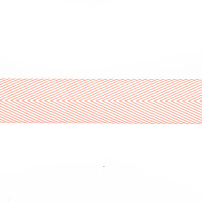 "May Arts 1 1/2"" Chevron Twill Ribbon Spool Pink"