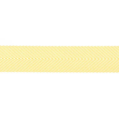 "May Arts 1 1/2"" Chevron Twill Ribbon Spool Yellow"