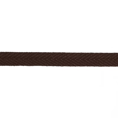 "May Arts 3/8"" Twill Ribbon Spool Brown"