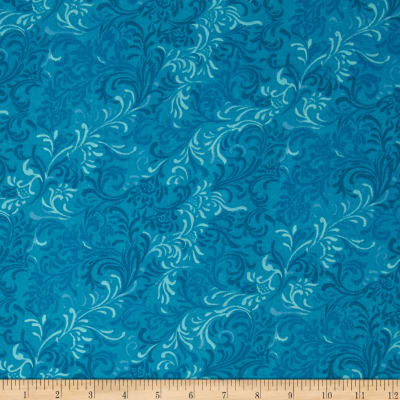 "Essentials 108"" Wide Quilt Back Flourish Blue"