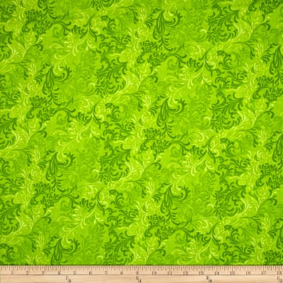 "Essentials 108"" Wide Quilt Back Flourish Lime"