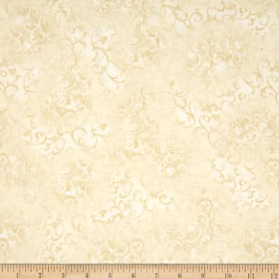 """Essentials 108"""" Quilt Back Scroll Ivory"""