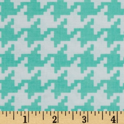 Michael Miller Everyday Houndstooth Seafoam