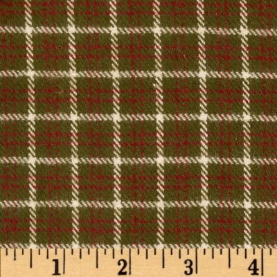 Primo Plaids V Flannel Square Plaid Green
