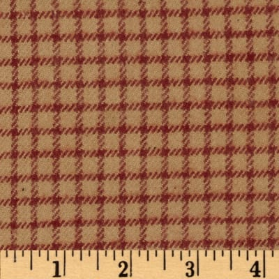 Primo Plaids V Flannel Gingham Red
