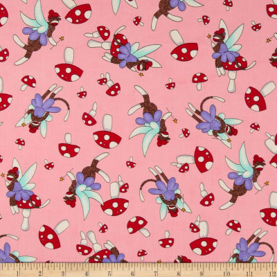 Moda Monkey Tales Fairy Cute Pink