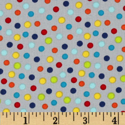 Moda Monkey Tales Funky Monkey Dots Grey