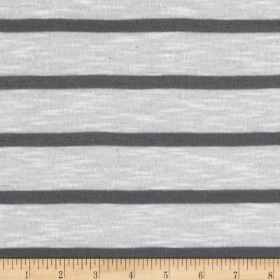 Designer Small Stripe Jersy Knit Charcoal