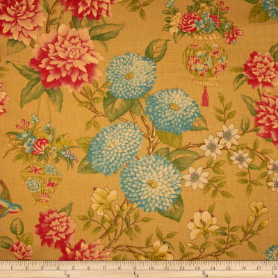 Waverly Williamsburg Lightfoot Garden Linen Cinnabar