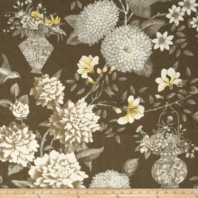 Waverly Williamsburg Lightfoot Garden Linen Sepia