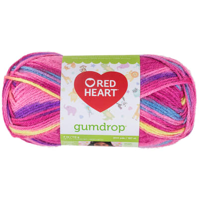 Red Heart Gumdrop Yarn 620 Cherry