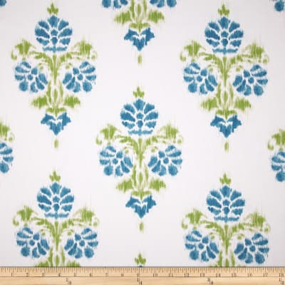 Duralee Manon Damask Twill Aqua/Green