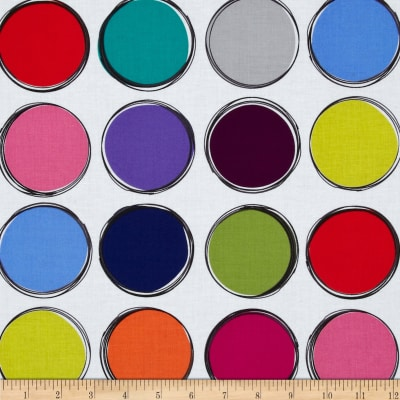 Michael Miller Paint Lids White