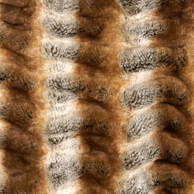 Tissavel Luxury Faux Shar-Pei Chinchilla Fur Gold