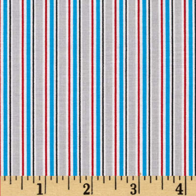 Child 39 s play stripe grey discount designer fabric for Grey childrens fabric