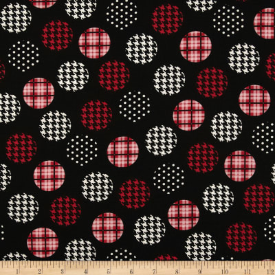 Spotlight Large Patterned Dots Red/Black