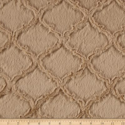 Shannon Minky Luxe Cuddle Lattice Sand