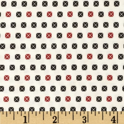 Penny Rose 19th Century Shirtings Envelopes Red/Black
