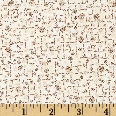 Penny Rose 19th Century Shirtings Squiggles Brown