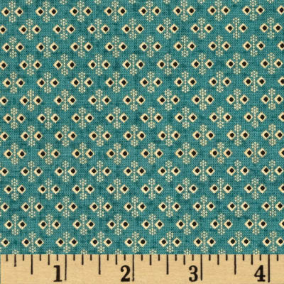Penny Rose Civil War Miniatures Wallpaper Teal