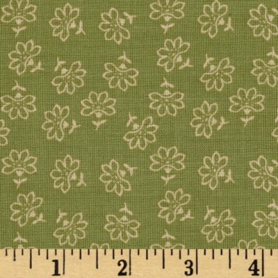Penny Rose Romancing the Past Floral Green