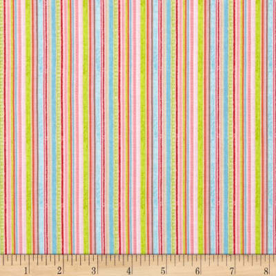 Riley Blake Happy Flappers Stripes Pink
