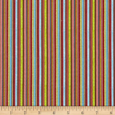 Riley Blake Happy Flappers Stripes Brown