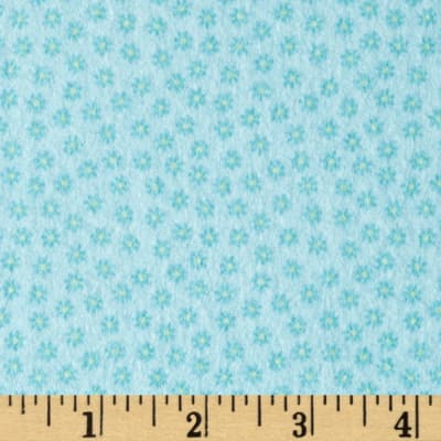 Riley Blake Happy Flappers Flannel Petal Blue