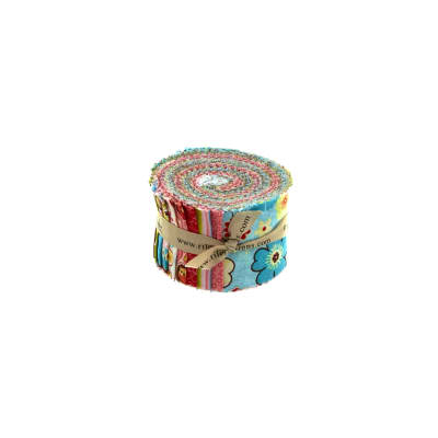 Riley Blake Happy Flappers 2.5-Inch Rolie Polie