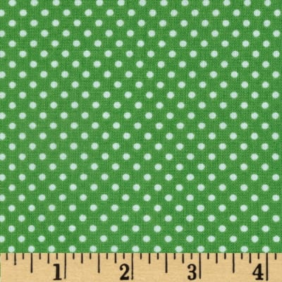 Riley Blake Roots & Wings Dots Green