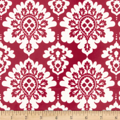Riley Blake Lost and Found Love Laminate Damask Red