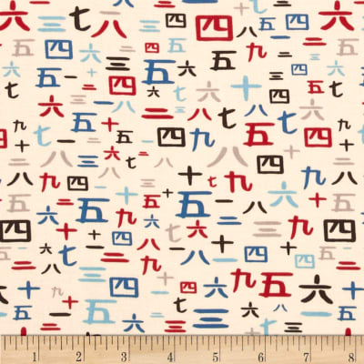 Riley Blake Year of the Ninja Numbers Multi