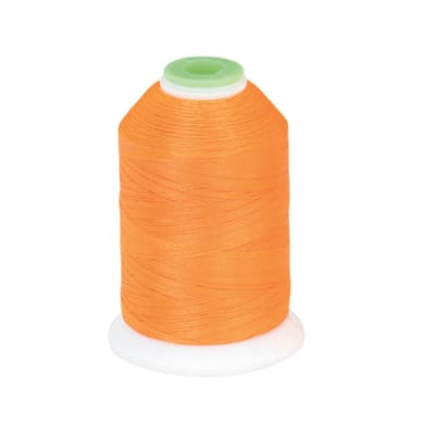 Coats & Clark Trilobal Embroidery Thread 1100 YD Neon Orange