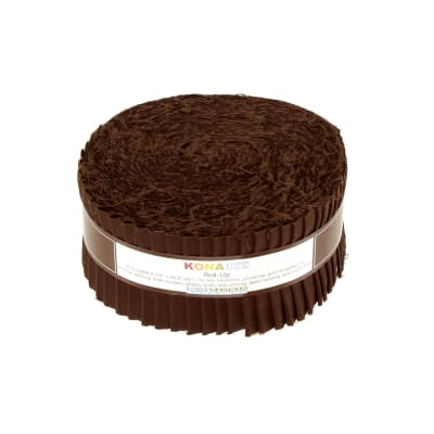 "Kona Cotton Coffee 2.5"" Roll Ups"