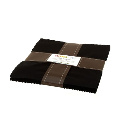 Kona Cotton Black Ten Squares