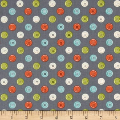 Sew Simple Buttons Gray