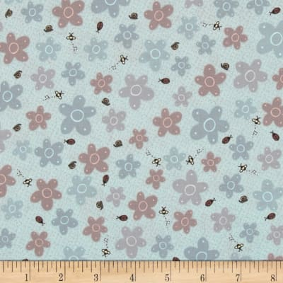 Pocketful of Daisies Bug Floral Sky Blue
