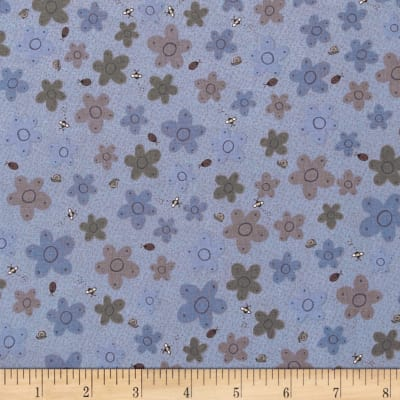 Pocketful of Daisies Bug Floral Blue