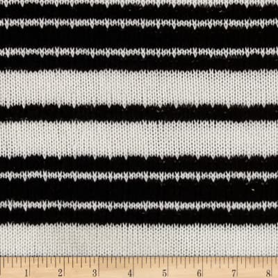 Designer Large Stripe Sweater Knit Black/White