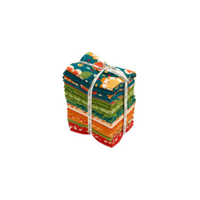 Lily's Garden Fat Quarter Bundle Teal