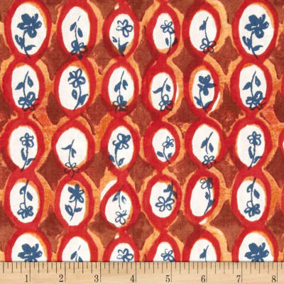 Meadowlark Floral Oval Orange
