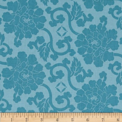 Governor's Palace Damask Cerulean