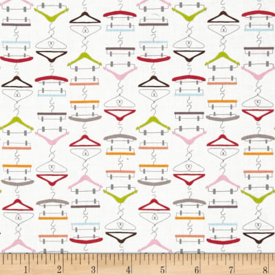 Timeless Treasures Dress Up Diva Clothes Hangers White