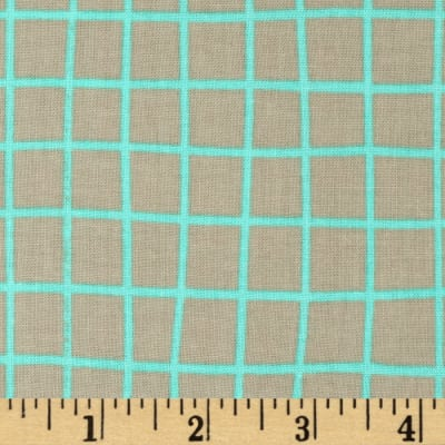Cotton + Steel Moonlit Grid Aqua