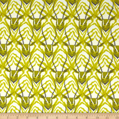 Cotton + Steel August Gazelle Lime