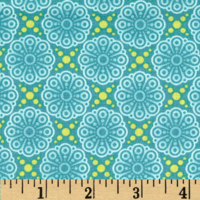 Friendly Forest Medallion Turquoise