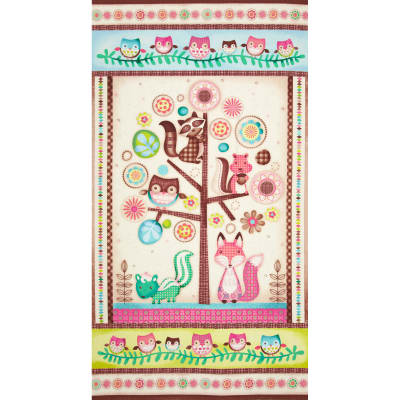 Friendly Forest Fox Panel Multi