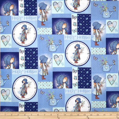 Holly Hobbie Holly Patchwork Blue