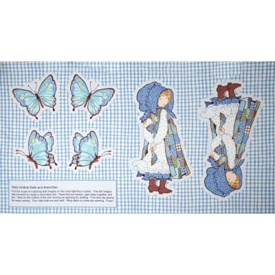 Holly Hobbie Doll Pattern Panel Blue
